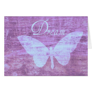 Tarjeta rosada del sueño de la mariposa