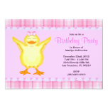 Tarjeta rosada dulce LINDA con cumpleaños amarillo Invitación 12,7 X 17,8 Cm
