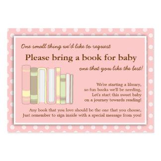 Tarjeta rosada femenina de la petición del parte m plantilla de tarjeta personal