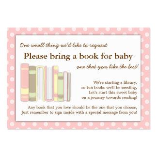 Tarjeta rosada femenina de la petición del parte tarjetas de visita grandes