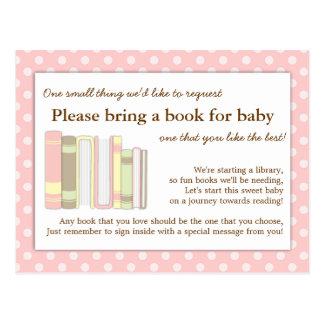 Tarjeta rosada femenina de la petición del parte postal