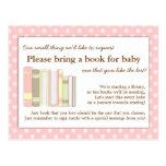 Tarjeta rosada femenina de la petición del parte tarjetas postales