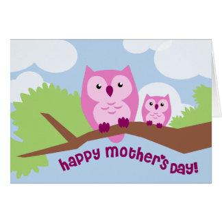 Tarjeta rosada linda del día de madre de la mamá y