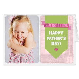 Tarjeta rosada linda del día de padre de la foto