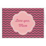 Tarjeta rosada preciosa del día de madre del galón