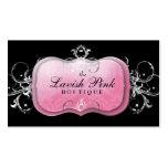 Tarjeta rosada pródigo de la lealtad de la plata d tarjeta de negocio