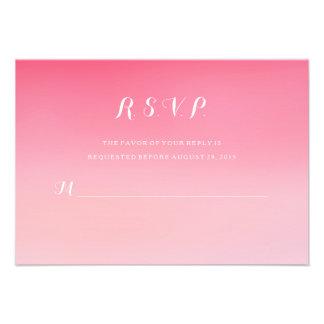 Tarjeta rosada RSVP de la respuesta del boda de la Anuncio