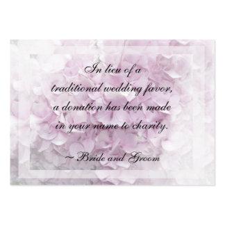 Tarjeta rosada suave de la caridad del boda del Hy Tarjeta Personal