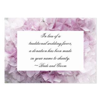Tarjeta rosada suave del favor de la caridad del b tarjetas de visita