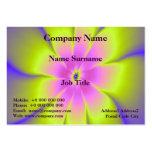 Tarjeta rosada y amarilla de la margarita plantilla de tarjeta de visita