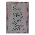 Tarjeta rosada y gris abstracta del árbol de navid