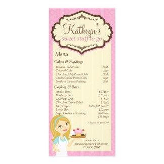 Tarjeta rubia 3 del estante del menú de la lona publicitaria