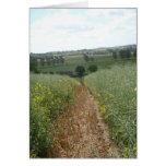 Tarjeta rural inglesa del arte de la foto de la
