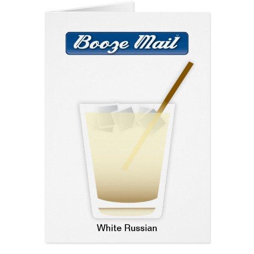 Tarjeta rusa blanca