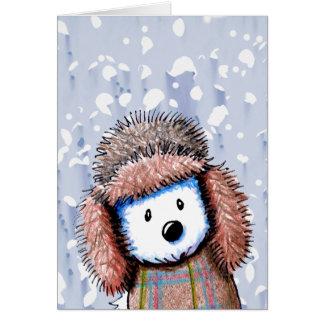 Tarjeta rusa de Westie del gorra del invierno