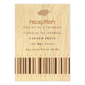 Tarjeta rústica de la recepción o de información tarjetas de visita grandes