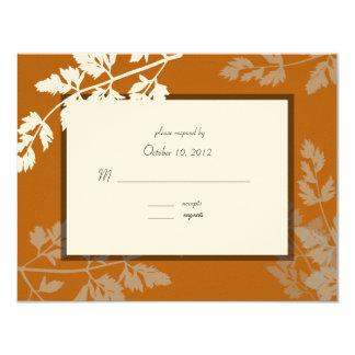 Tarjeta rústica de la respuesta del boda invitación 10,8 x 13,9 cm