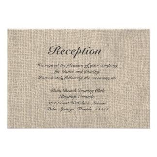 Tarjeta rústica de las direcciones de la recepción comunicados personalizados