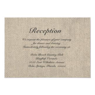 Tarjeta rústica de las direcciones de la recepción invitación 8,9 x 12,7 cm