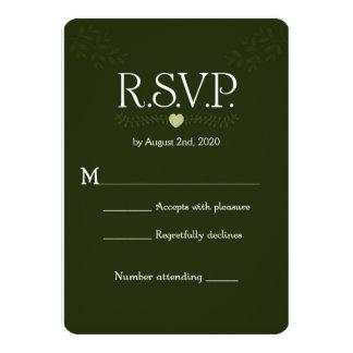 """Tarjeta rústica de RSVP de las ramas de Forest Invitación 4.5"""" X 6.25"""""""
