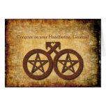 Tarjeta rústica de Wiccan Handfasting para los