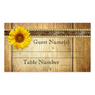 Tarjeta rústica del lugar de la tabla del asiento  plantilla de tarjeta de negocio