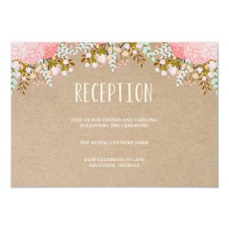 Tarjeta rústica del recinto de la recepción de las invitación 8,9 x 12,7 cm