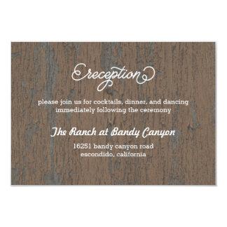 Tarjeta rústica del recinto de la tarjeta de la invitación 8,9 x 12,7 cm