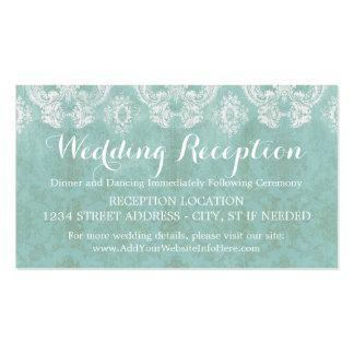 Tarjeta rústica del recinto del boda del damasco tarjetas de visita