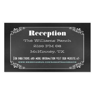 Tarjeta rústica del recinto del boda del tablero d tarjetas de visita