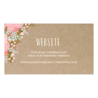 Tarjeta rústica del Web site de las flores que se Tarjetas De Visita