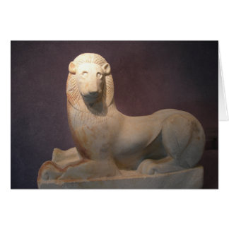 Tarjeta sagrada del león de la puerta del Griego