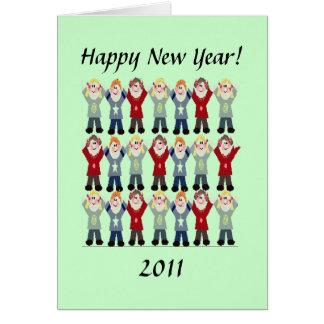 Tarjeta - saludo - Feliz Año Nuevo