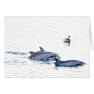 Tarjeta salvaje de los delfínes de Bottlenose