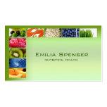 Tarjeta sana verde en colores pastel de la vida/de tarjetas de negocios