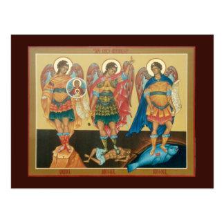 Tarjeta santa del rezo de los arcángeles postal