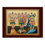 Tarjeta santa del rezo de los arcángeles postales
