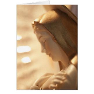 Tarjeta santa del saludo/de nota de Maria