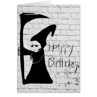 Tarjeta severa del feliz cumpleaños de la pintada