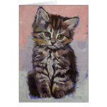 Tarjeta siberiana del gatito
