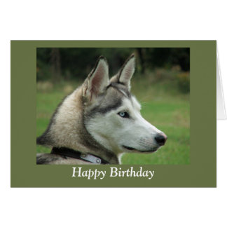 Tarjeta siberiana fornida del feliz cumpleaños de