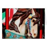 Tarjeta silenciosa del caballo del carrusel del co