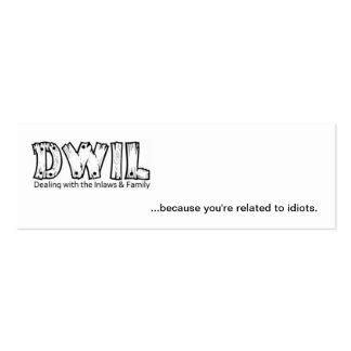 Tarjeta simple de DWIL - pequeña Plantillas De Tarjeta De Negocio