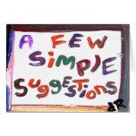 tarjeta simple de la recuperación de algunas suger