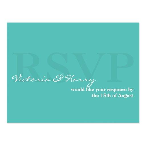 Tarjeta simple de la respuesta del boda de RSVP de Tarjetas Postales