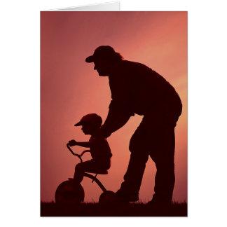 Tarjeta simple de la silueta para el día de padre