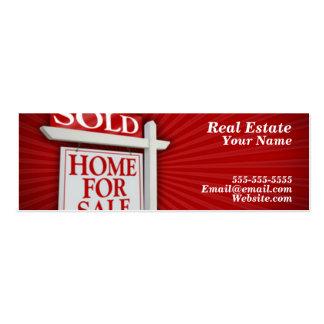 tarjeta simple de las propiedades inmobiliarias plantilla de tarjeta de negocio