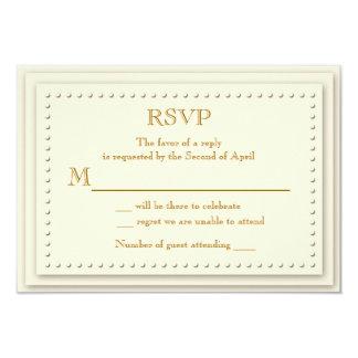 """Tarjeta simple de RSVP de la crema de la elegancia Invitación 3.5"""" X 5"""""""
