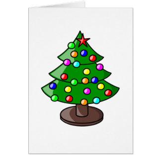 Tarjeta simple del árbol de navidad