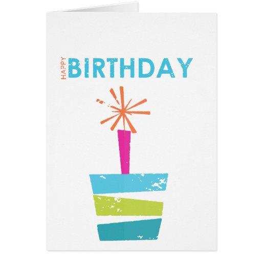 Tarjeta simple linda de la vela del cumpleaños